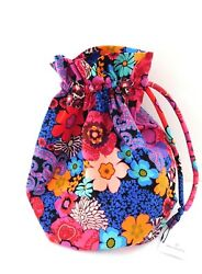 Vera Bradley Floral Fiesta Large Ditty Bag 15862-G15 Beach Pool Cruise Lined