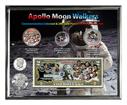 Apollo Moonwalkers Colorized 45th Anniversary Set In 8 X 10 Frame