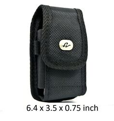 Vertical Nylon Rugged Holster Belt Clip Fits Device With Otterbox Defender On It
