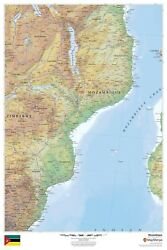 Mozambique Laminated Wall Map Msh