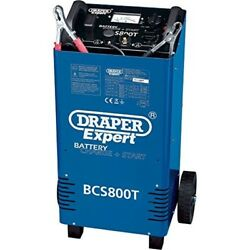 Draper Bcs800t Expert Automotive Battery Starter & Charger With Trolley 700 Amp