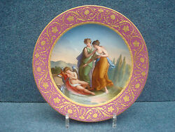 Royal Vienna Porcelain Plateamor And Nymphes 1800-1849 Date Code 1806