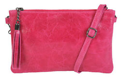 DV Fashions Small Italian Leather Clutch Shoulder Evening Bag DV-3