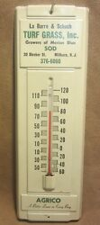 Old La Barreandschuch Turf Agrico Thermometer Feed Seed Farm Adv Sign