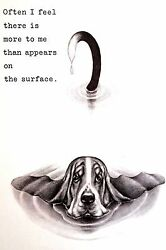 Boswell BASSET HOUND More to Me than You See 1958 Vintage Dog Print Matted