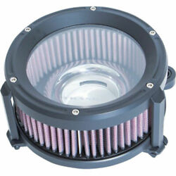 Trask Assault Charge Black Air Cleaner Stage 1 Filter Intake Harley 17+ Touring