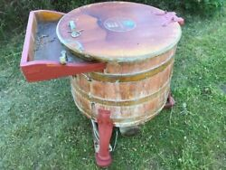 Vintage Old Architectural Oak Hand Crafted Cooper Made Washing Tub Barrel