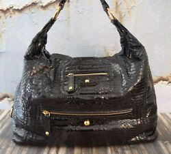 TOD'S Women's Hobo Black Python New Pashmy Large Luna Bag