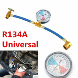 Car Auto Air Conditioning Refrigerant Recharge Measuring Hose Gauge Kit AC R134A