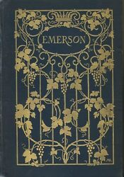 Emerson Poet And Thinker Elisabeth Cary 1904 Hc 1st Edition Good Condition