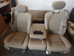 1999-2007 Ford F250 F350 Tan Cloth Seats Front And Rear With Jump Seat Nice