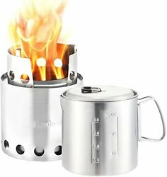 Solo Stove and Pot 900 Combo: Ultralight Wood Burning Backpacking Cook System.