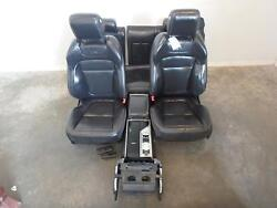2009-2015 Jaguar Xf Black Leather Front And Rear Seats W/console Power Driver