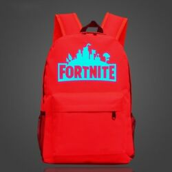 Fortnite Cool Night Luminous Backpack School Bags for Boys and Girls Schoolbags