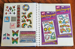 Vintage 80's 90's Current Unicorn And Rainbow Sticker Album Collection Lot