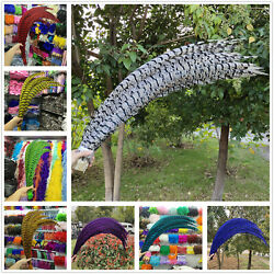 5-100pcs 32-36 Inch Lady Amherst Pheasant Tail Feathers For Wedding Decor Party