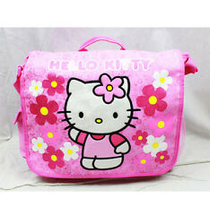 Hello Kitty Flower Large Messenger Bag for Kids New Girls Sanrio Shoulder Bag