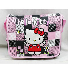 Hello Kitty Patch Large Messenger Bag for Kids New Girls Sanrio Shoulder Bag