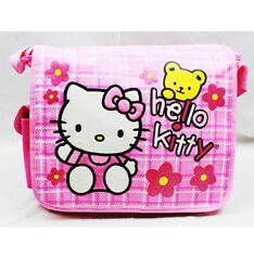 Hello Kitty Teddy Messenger Bag for Kids New Girls Sanrio Pink
