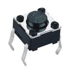 1000pcs Tactile Push Button Switch, 6x6x5mm, Momentary, Tact SW.