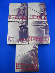 2009 Famous Battles In History - Complete Set 5 Silver Coins