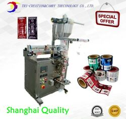 packing machine for food,ketchup sauce packing machine,3 side,bag forming pack