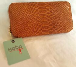 NEW Hobo International Lucy Exotic Snake-Skin Embossed Leather Wallet NWT