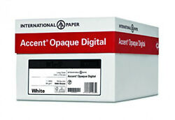 Accent Opaque Smooth Cover White 65lb 18 X 12 97 Bright 1250 Sheets
