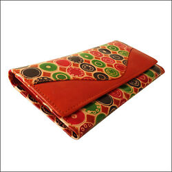 100% Leather Indian Shantiniketan Clutch Women#x27;s Wallet Purse Handmade Painted $19.99