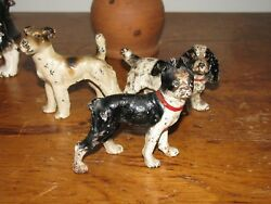 ANTIQUE CAST IRON HUBLEY STANDING BOSTON TERRIER PAPERWEIGHT