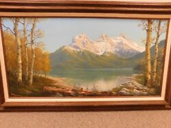 Large Original Oil On Canvas By Listed Artist Don Brown- Mount Chester