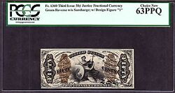 Us 50c Fractional Currency Note 3rd Issue Fr 1360 Pcgs 63 Ppq Ch Cu
