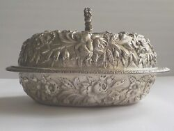 Jacobi And Jenkins Baltimore Repousse Sterling Silver Entree Dish C. 1894-1908