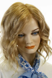 Mila 27t613f Blonde Medium Lace Front Light Weight Monofilament Wavy Wigs