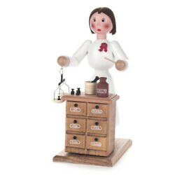 Pharmacist Lady German Smoker - Wooden Cone Incense Burner - Made In Germany