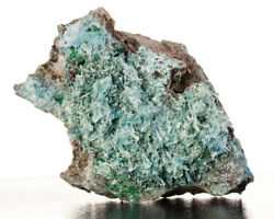 4.3 Vibrant Turquoise Plancheite Radiating Acicular Crystals D.r.congo For Sale