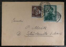 1951 Ddr East Germany Cover To Stüdenitz Mao Tse Tung Stamp 82