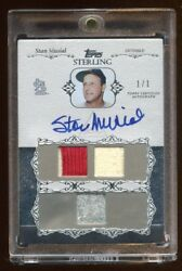 2006 Topps Stan Musial Auto 1/1 Masterpiece Game Patch-jersey On Card Autograph