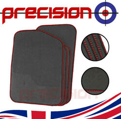 Grey Business Class Car Mats With Red Twist For Honda Stream 01-05