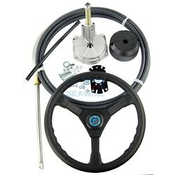 16 Ft Boat Rotary Steering System With Marine Outboard Steering Cable And Wheel