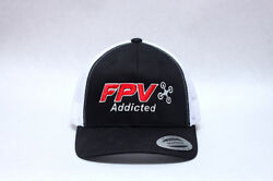 Fpv Addicted Hat Cap Drone Racing Pilot Wing Gates Radio Control Rc Embroidery