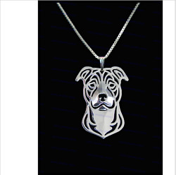 New Gold Silver Bull Terrier necklace Fashion bulldog jewelry for pet lovers