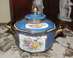 Amazing Sevres 1763 Covered Dish - Gold Guilt With Flowers - Excelent Condition