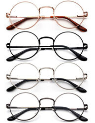 Classic Reading Glasses Aviator Retro Round Spring Hindge Stainless Steel Frame $8.15