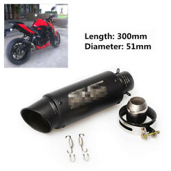 Motorcycle S.S. Exhaust Muffler Pipe 36-51mm for Ducati Buell Aprilia Kawasaki