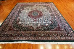 8' X 10' Green Hand Knotted Bijar Rug - Made In India, 100 Wool Pile