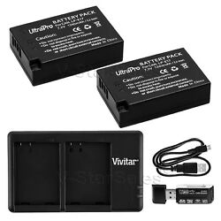 2x Lp-e17 Replacement Battery + Dual Charger For Canon Eos 77d T7i T6s T6i M3 M6