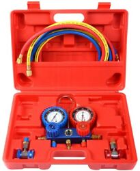 R134A Manifold Gauge Set AC AC 6FT Colored Hose Air Conditioner Case Easy Read