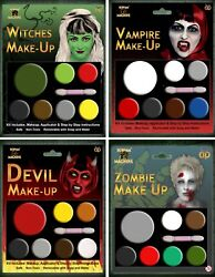 Halloween Make Up Face Paint Multi Pallet Kit Witch Zombie Fancy Dress Party
