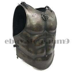 X-mas Loin Muscle Armour Jacket Medieval Cuirass Leather Jacket X-mas